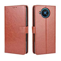 Coque Portefeuille Livre Cuir Etui Clapet L04 pour Nokia 8.3 5G Marron