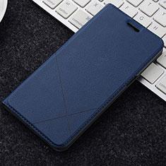 Coque Portefeuille Livre Cuir Etui Clapet L04 pour OnePlus 5T A5010 Bleu