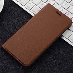 Coque Portefeuille Livre Cuir Etui Clapet L04 pour OnePlus 5T A5010 Marron