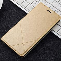 Coque Portefeuille Livre Cuir Etui Clapet L04 pour OnePlus 5T A5010 Or