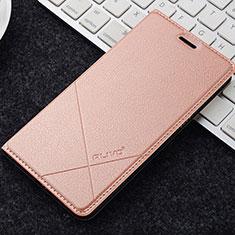 Coque Portefeuille Livre Cuir Etui Clapet L04 pour OnePlus 5T A5010 Or Rose