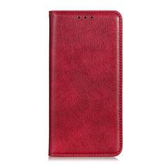 Coque Portefeuille Livre Cuir Etui Clapet L04 pour Oppo A15 Rouge