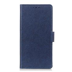 Coque Portefeuille Livre Cuir Etui Clapet L04 pour Oppo Reno3 A Bleu