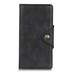 Coque Portefeuille Livre Cuir Etui Clapet L04 pour Realme C17 Noir