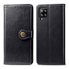 Coque Portefeuille Livre Cuir Etui Clapet L04 pour Samsung Galaxy A42 5G Noir