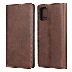 Coque Portefeuille Livre Cuir Etui Clapet L04 pour Samsung Galaxy A51 4G Marron