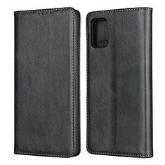 Coque Portefeuille Livre Cuir Etui Clapet L04 pour Samsung Galaxy A51 4G Noir