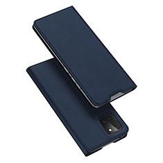 Coque Portefeuille Livre Cuir Etui Clapet L04 pour Samsung Galaxy A81 Bleu