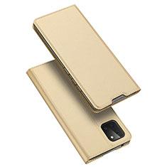 Coque Portefeuille Livre Cuir Etui Clapet L04 pour Samsung Galaxy A81 Or