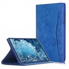 Coque Portefeuille Livre Cuir Etui Clapet L04 pour Samsung Galaxy Tab A7 4G 10.4 SM-T505 Bleu