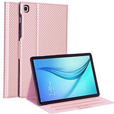 Coque Portefeuille Livre Cuir Etui Clapet L04 pour Samsung Galaxy Tab S5e Wi-Fi 10.5 SM-T720 Or Rose