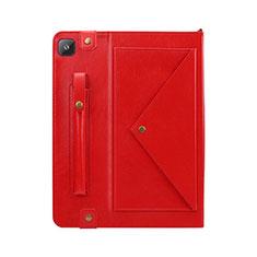 Coque Portefeuille Livre Cuir Etui Clapet L04 pour Samsung Galaxy Tab S6 Lite 4G 10.4 SM-P615 Rouge