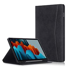 Coque Portefeuille Livre Cuir Etui Clapet L04 pour Samsung Galaxy Tab S7 Plus 5G 12.4 SM-T976 Noir