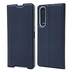 Coque Portefeuille Livre Cuir Etui Clapet L04 pour Sony Xperia 1 II Bleu