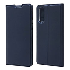 Coque Portefeuille Livre Cuir Etui Clapet L04 pour Sony Xperia 10 II Bleu