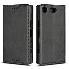 Coque Portefeuille Livre Cuir Etui Clapet L04 pour Sony Xperia XZ1 Compact Noir