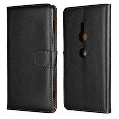 Coque Portefeuille Livre Cuir Etui Clapet L04 pour Sony Xperia XZ2 Noir