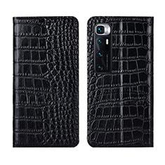 Coque Portefeuille Livre Cuir Etui Clapet L04 pour Xiaomi Mi 10 Ultra Noir