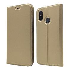 Coque Portefeuille Livre Cuir Etui Clapet L04 pour Xiaomi Mi 8 Or