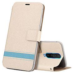 Coque Portefeuille Livre Cuir Etui Clapet L04 pour Xiaomi Redmi K30 4G Or