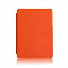 Coque Portefeuille Livre Cuir Etui Clapet L05 pour Amazon Kindle Paperwhite 6 inch Orange