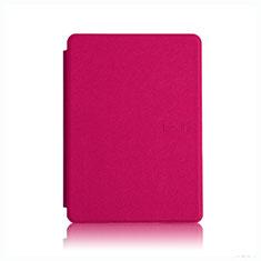 Coque Portefeuille Livre Cuir Etui Clapet L05 pour Amazon Kindle Paperwhite 6 inch Rose Rouge