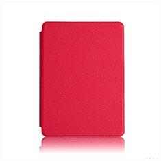 Coque Portefeuille Livre Cuir Etui Clapet L05 pour Amazon Kindle Paperwhite 6 inch Rouge