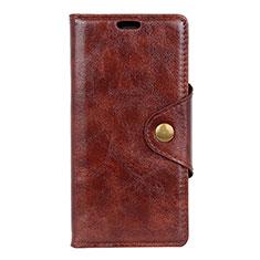Coque Portefeuille Livre Cuir Etui Clapet L05 pour Asus Zenfone 5 ZS620KL Marron