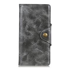 Coque Portefeuille Livre Cuir Etui Clapet L05 pour Asus Zenfone Max Plus M2 ZB634KL Gris