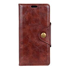 Coque Portefeuille Livre Cuir Etui Clapet L05 pour Asus Zenfone Max ZB555KL Marron