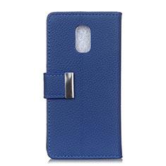 Coque Portefeuille Livre Cuir Etui Clapet L05 pour Asus ZenFone V Live Bleu