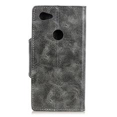 Coque Portefeuille Livre Cuir Etui Clapet L05 pour Google Pixel 3a XL Gris