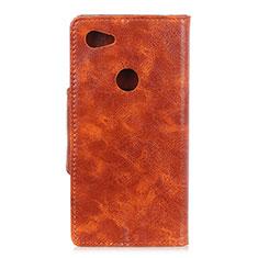 Coque Portefeuille Livre Cuir Etui Clapet L05 pour Google Pixel 3a XL Orange