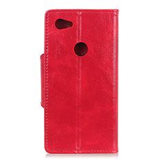 Coque Portefeuille Livre Cuir Etui Clapet L05 pour Google Pixel 3a XL Rouge
