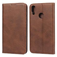 Coque Portefeuille Livre Cuir Etui Clapet L05 pour Huawei Enjoy 9 Marron