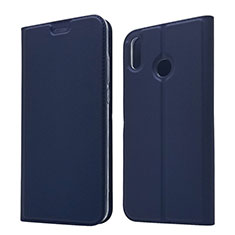 Coque Portefeuille Livre Cuir Etui Clapet L05 pour Huawei Honor 8X Bleu