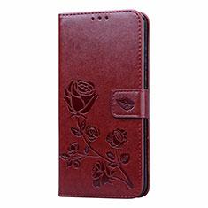 Coque Portefeuille Livre Cuir Etui Clapet L05 pour Huawei Honor 9A Marron
