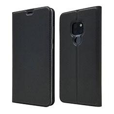 Coque Portefeuille Livre Cuir Etui Clapet L05 pour Huawei Mate 20 Noir