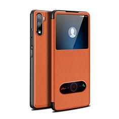 Coque Portefeuille Livre Cuir Etui Clapet L05 pour Huawei Mate 40 Lite 5G Orange