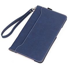 Coque Portefeuille Livre Cuir Etui Clapet L05 pour Huawei MatePad 10.4 Bleu