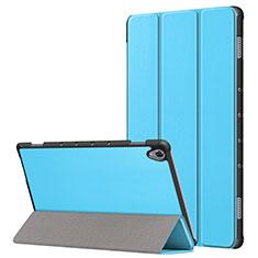 Coque Portefeuille Livre Cuir Etui Clapet L05 pour Huawei MatePad 10.8 Bleu Ciel