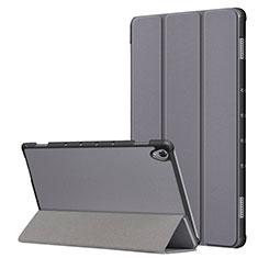 Coque Portefeuille Livre Cuir Etui Clapet L05 pour Huawei MatePad 10.8 Gris