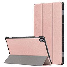 Coque Portefeuille Livre Cuir Etui Clapet L05 pour Huawei MatePad 10.8 Or Rose