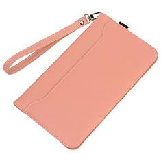 Coque Portefeuille Livre Cuir Etui Clapet L05 pour Huawei MatePad 5G 10.4 Rose