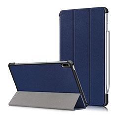 Coque Portefeuille Livre Cuir Etui Clapet L05 pour Huawei MatePad Pro Bleu