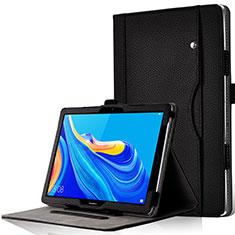 Coque Portefeuille Livre Cuir Etui Clapet L05 pour Huawei MediaPad M6 10.8 Noir