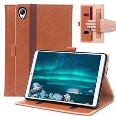 Coque Portefeuille Livre Cuir Etui Clapet L05 pour Huawei MediaPad M6 8.4 Marron