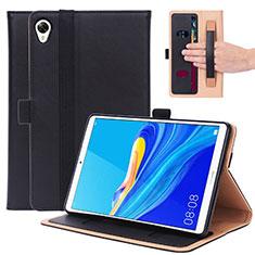 Coque Portefeuille Livre Cuir Etui Clapet L05 pour Huawei MediaPad M6 8.4 Noir