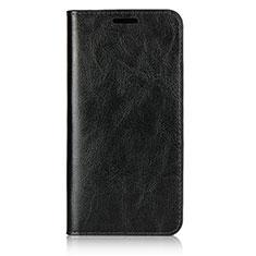 Coque Portefeuille Livre Cuir Etui Clapet L05 pour Huawei P20 Noir
