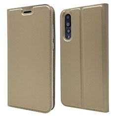Coque Portefeuille Livre Cuir Etui Clapet L05 pour Huawei P20 Pro Or